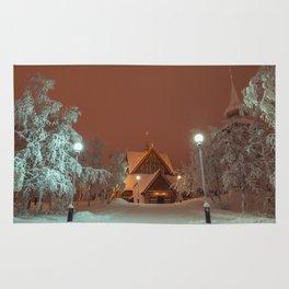 Kiruna Church In the Winter Snow Rug