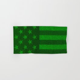 The grass and stripes / 3D render of USA flag grown from grass Hand & Bath Towel