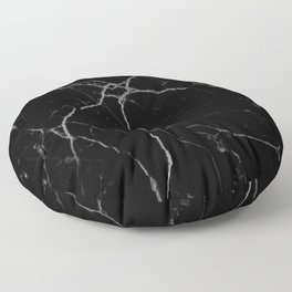 black marble I Floor Pillow