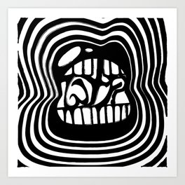WTF: Black and White Art Print