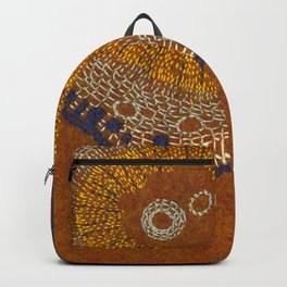 Growing - ginkgo - plant cell embroidery Backpack
