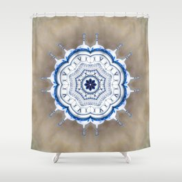 Kremlin Inspired Mandala Shower Curtain