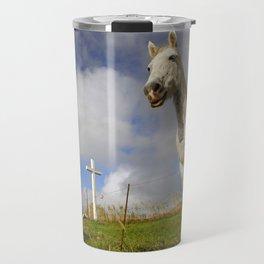Horse and chapel Travel Mug