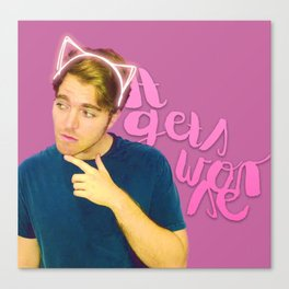 Shane Dawson - It Gets Worse Canvas Print