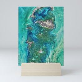 Ice Scours the North Caspian Sea Mini Art Print