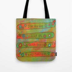 Positive Logger - Longboard Surfboards - Happy Surfers Tote Bag