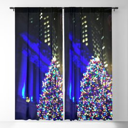 Wall Street Christmas, NYC Holiday Tree Lights Blackout Curtain