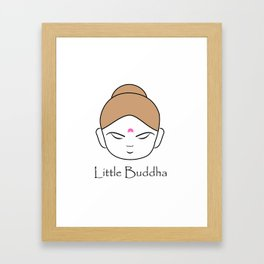 Cute little Buddha Framed Art Print