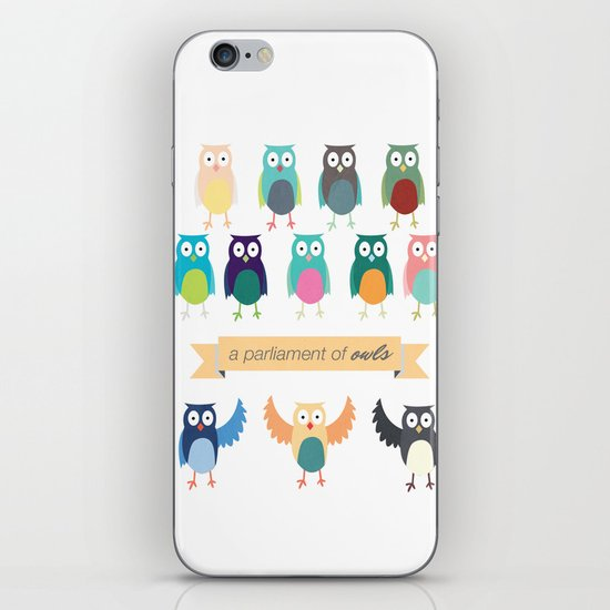 A Parliament of Owls iPhone & iPod Skin