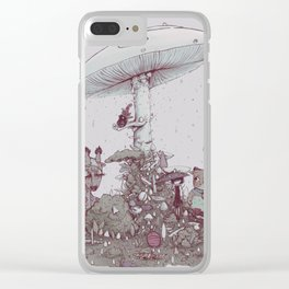 Rain of Spores Clear iPhone Case