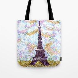 Eiffel Tower Pointillism by Kristie Hubler Tote Bag