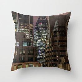 London, 30 St Mary Axe Throw Pillow