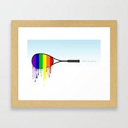 Squash - Don't be afraid Framed Art Print