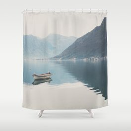 boat reflections ... Shower Curtain