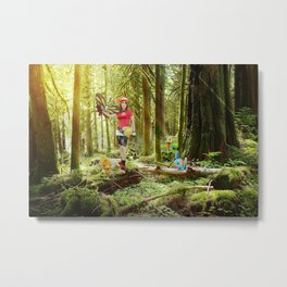Strolling in the forest Metal Print