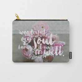 Psalm 139 14 Encouraging Scripture Ranunculus Floral Photograph Carry-All Pouch