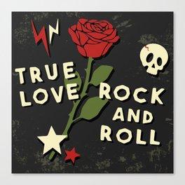 Grunge rock slogan print Canvas Print