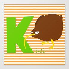 k for kiwi Canvas Print