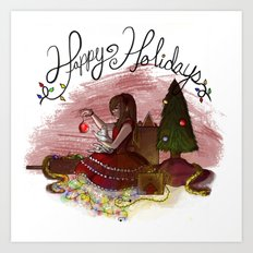 Happy Holidays Art Print