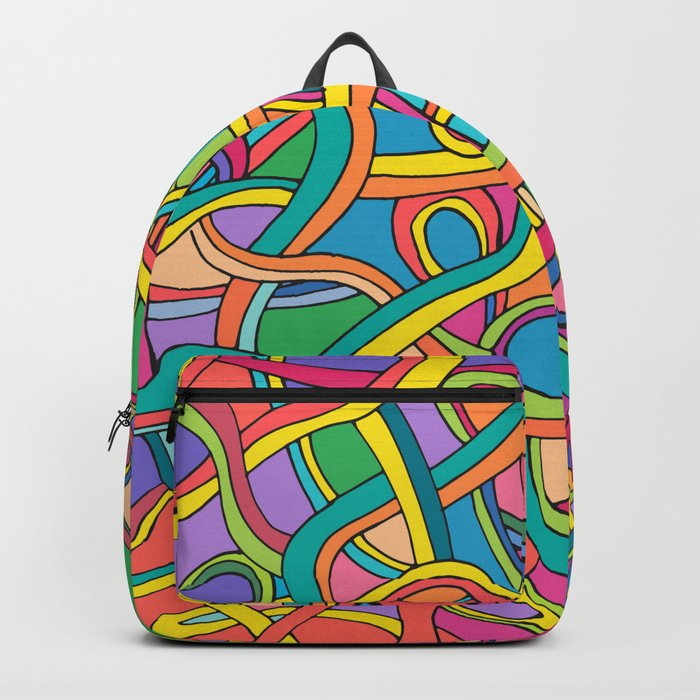 Curved lines color 2 Backpack