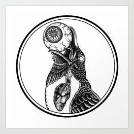 Muninn (Raven of Memory) Art Print