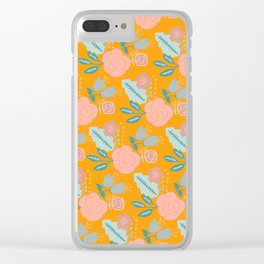 Sunny Florals Clear iPhone Case
