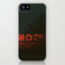 Motel - Neon iPhone Case