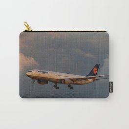 A Lufthansa Plane Peparing For Landing Carry-All Pouch