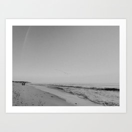 HALF MOON BAY III (B+W) Art Print