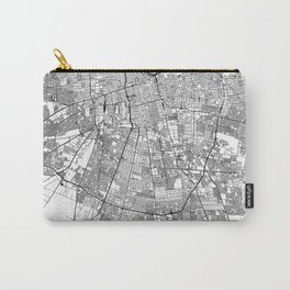 Santiago White Map Carry-All Pouch