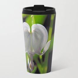 White Bleeding Heart Travel Mug