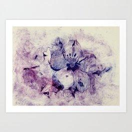 Mixed Purple Hibiscus Art Print