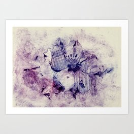 Mixed Purple Hibiscus Art Print