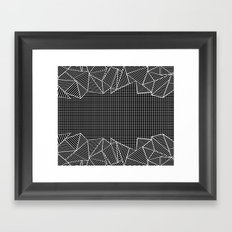 Grids And Stripes Black Framed Art Print