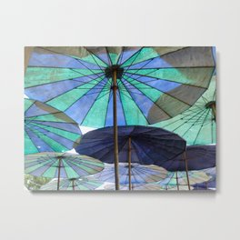 Thai Umbrellas Metal Print