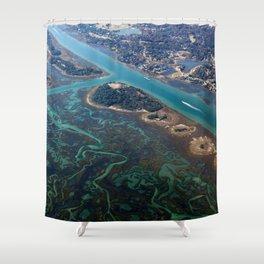 Aerial Photograph | Intracoastal Waterway | Wilmington North Carolina Shower Curtain