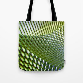 Shiny Green Dimple Abstract Tote Bag