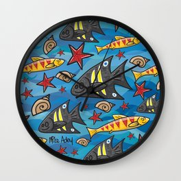Bondi Blue Wall Clock