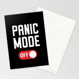 Don't Panic Mode OFF Virus Yoga Gift Stationery Cards