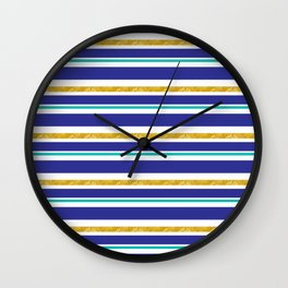 cozumel stripes Wall Clock