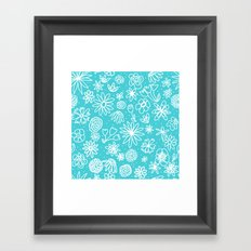 White Flowers Framed Art Print