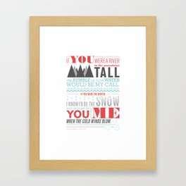 All I Want Is You - Pink Framed Art Print