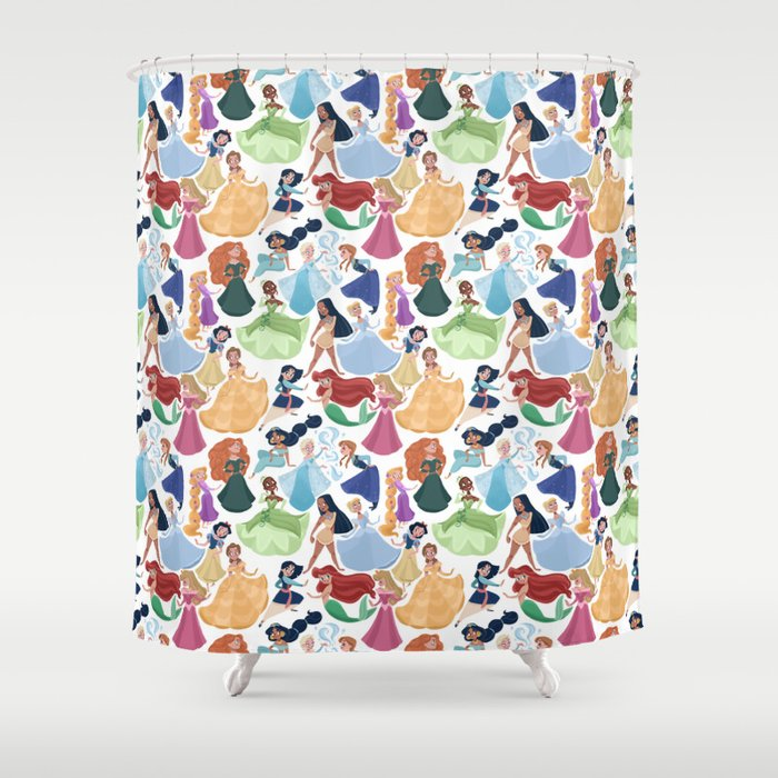 Forever Princess Shower Curtain By Marianaavilal