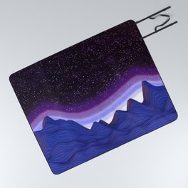 Mountains in Space Picnic Blanket