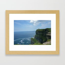 cliff and castle  Framed Art Print