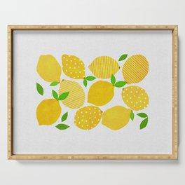 Lemon Crowd Serving Tray