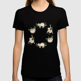 Tropical Sloths Pattern T-shirt