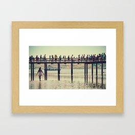 la passerelle, Tour de Belém. Framed Art Print