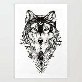 Earth Wolf (Luna) Art Print