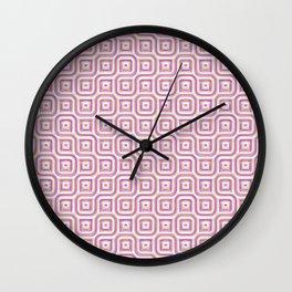Rose Truchet Tilling Pattern Wall Clock